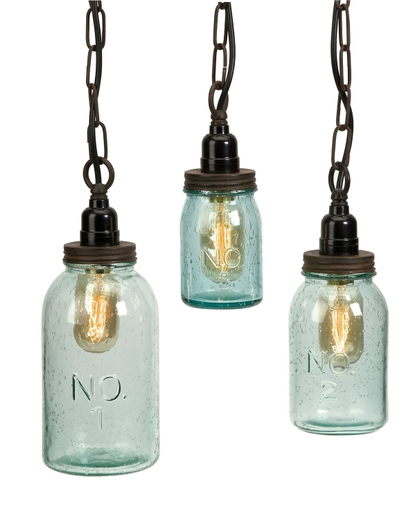 Lexington Mason Jar Pendant Lights - Set of 3 - IMAX