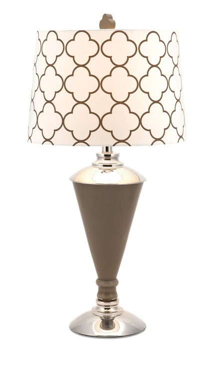 Essentials Taupe Glass Table Lamp