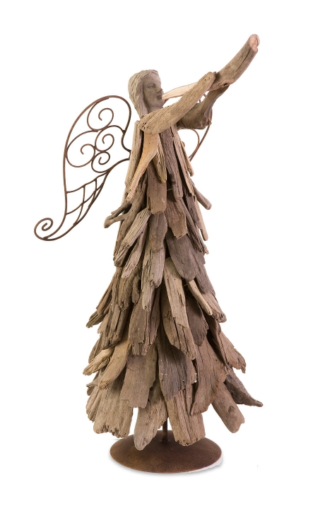 Woodland Driftwood Angel with Trumpet