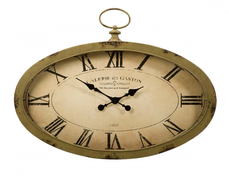 Sophie Oval Wall Clock - IMAX