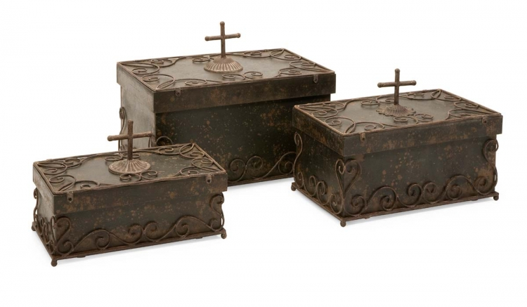 Peyton Lidded Boxes - Set of 3 - IMAX