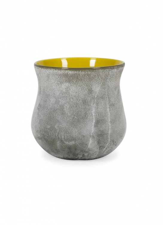 Townsend Short Grey and Yellow Jar