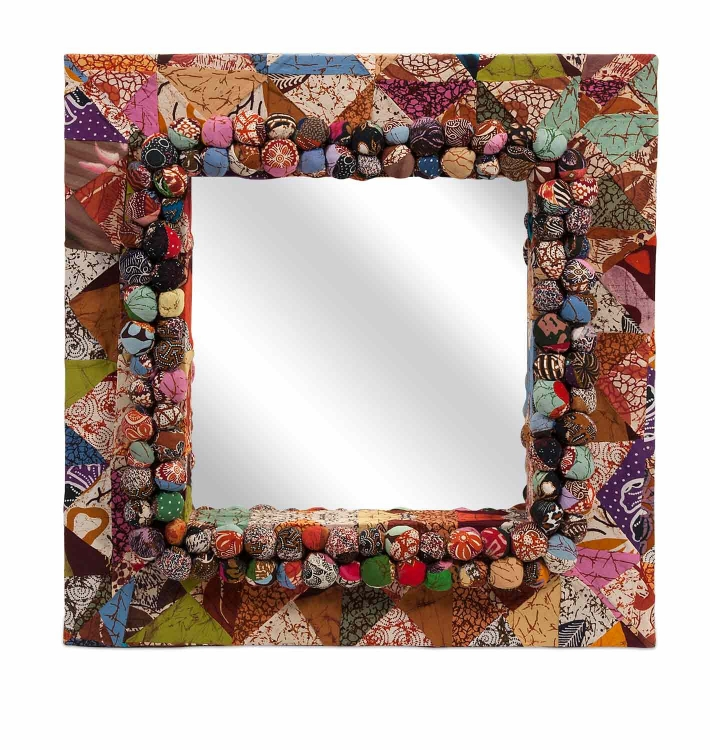 Alessandra Recycled Batik Fabric Mirror