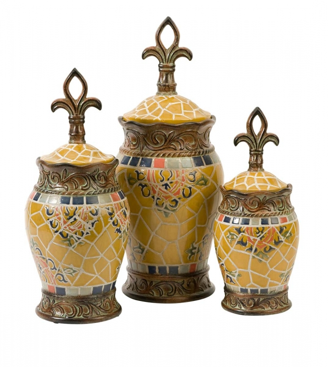 Vallarta Ceramic Canisters - Set of 3