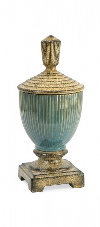 Tavian Small Ceramic Lidded Jar - IMAX
