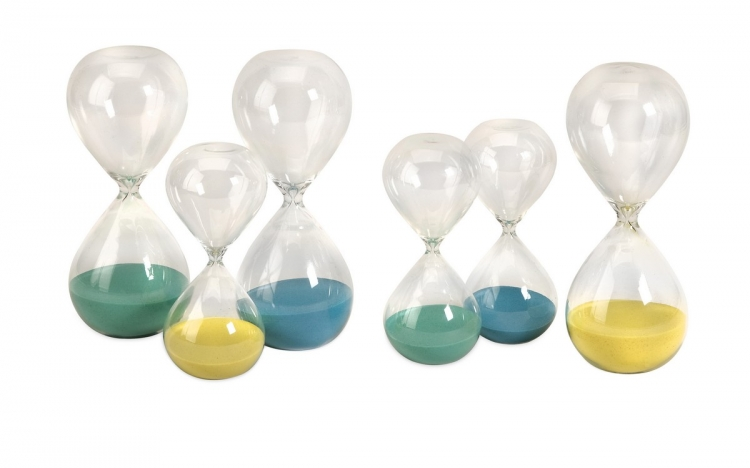 Paroles 30 min and 15 min Hourglass - Set of 6