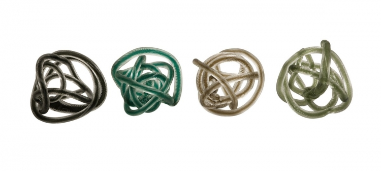 Large Glass Rope Knots - Set of 4