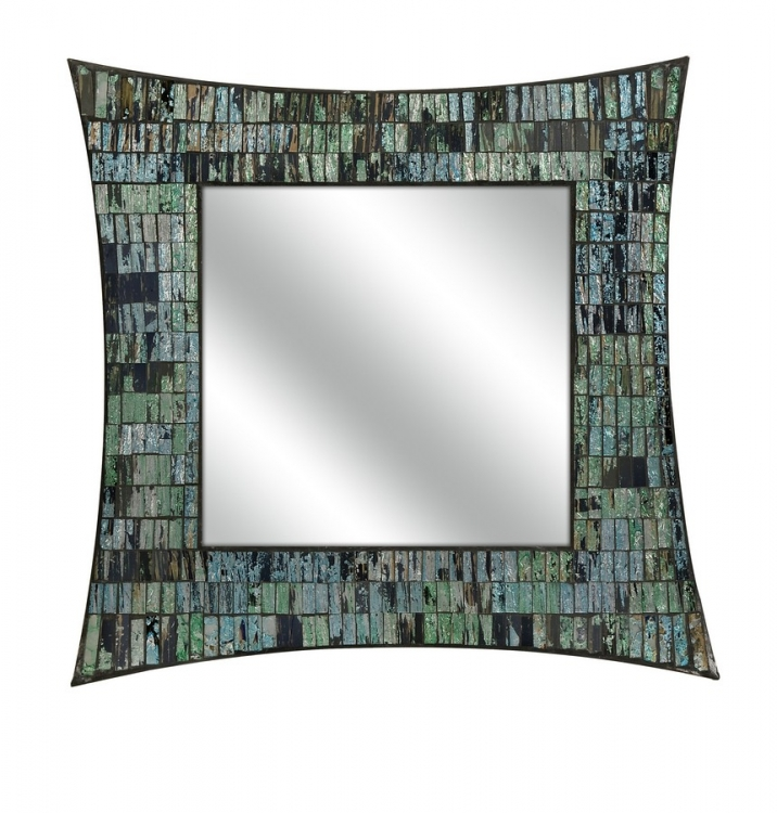 Aramis Mosaic Glass Wall Mirror - IMAX