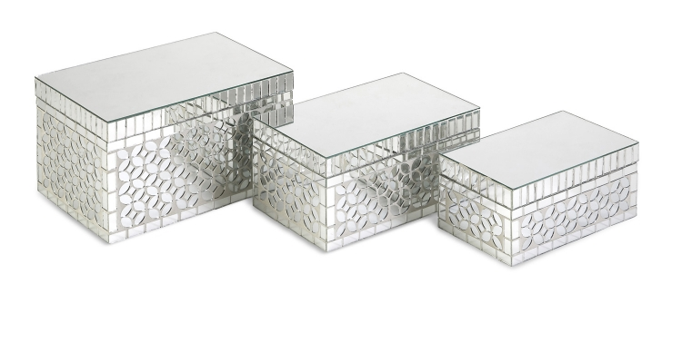 Mandiline Mirror Mosaic Boxes - Set of 3 - IMAX