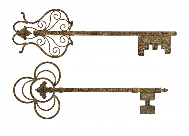 Chateau Key Wall Decor - Set of 2 - IMAX