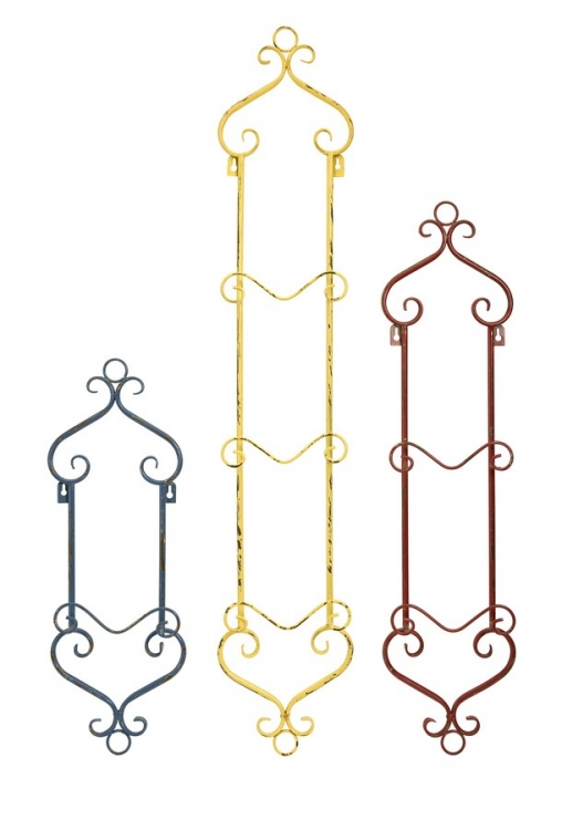 Lowry Plate Rack Wall Decor - Set of 2 - IMAX