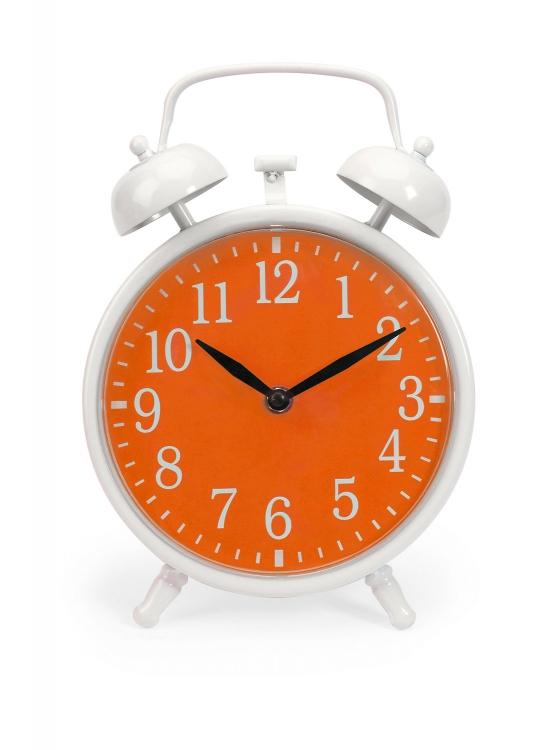 Essentials Orange Face Clock