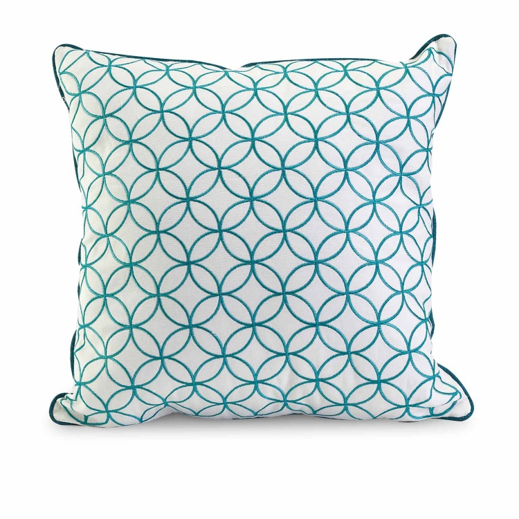 Essentials Blue Embroidered Pillow
