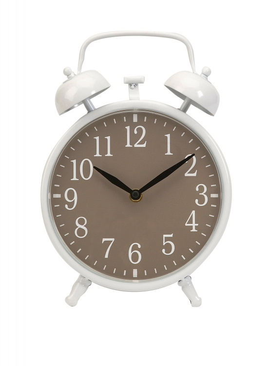 Essentials Taupe Face Clock