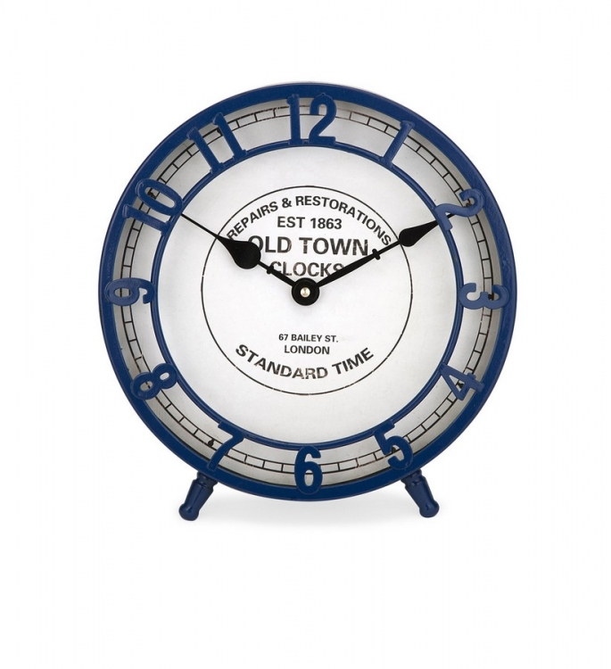 Essentials Marine Blue Desk Clock