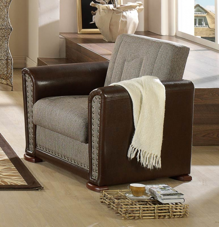 Istikbal Alfa Arm Chair - Redeyef Brown