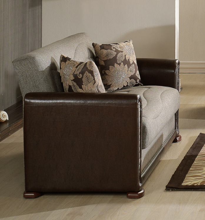 Istikbal Alfa Sleeper Love Seat - Redeyef Brown