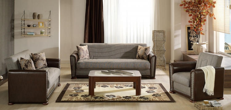 Istikbal Alfa Living Room Set - Redeyef Brown