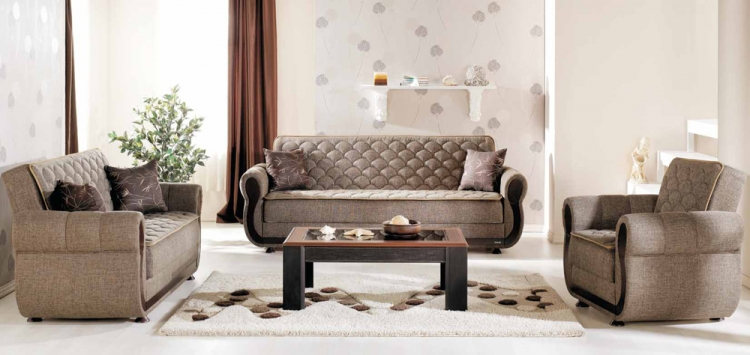 Argos Living Room Set - Terapy Light Brown - Istikbal - Sunset