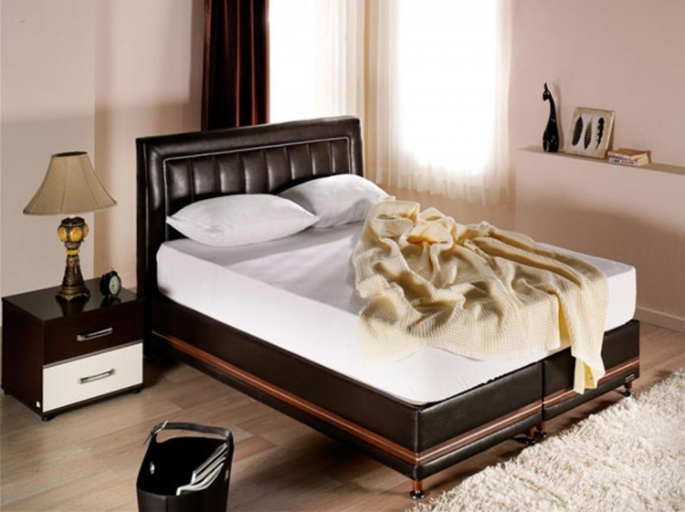 Active Platform Queen Bed - Urge Brown - Istikbal - Sunset