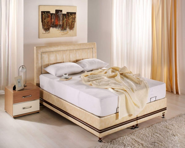 Active Platform Queen Bed - Urge Cream - Istikbal - Sunset