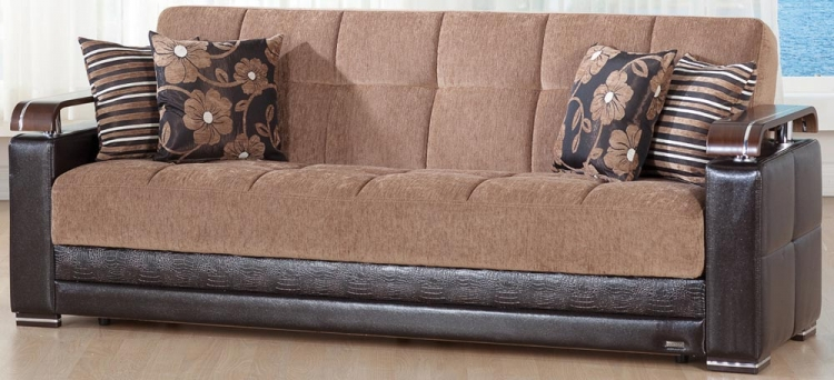 Ekol Sleeper Sofa - Yuky Brown - Istikbal - Sunset