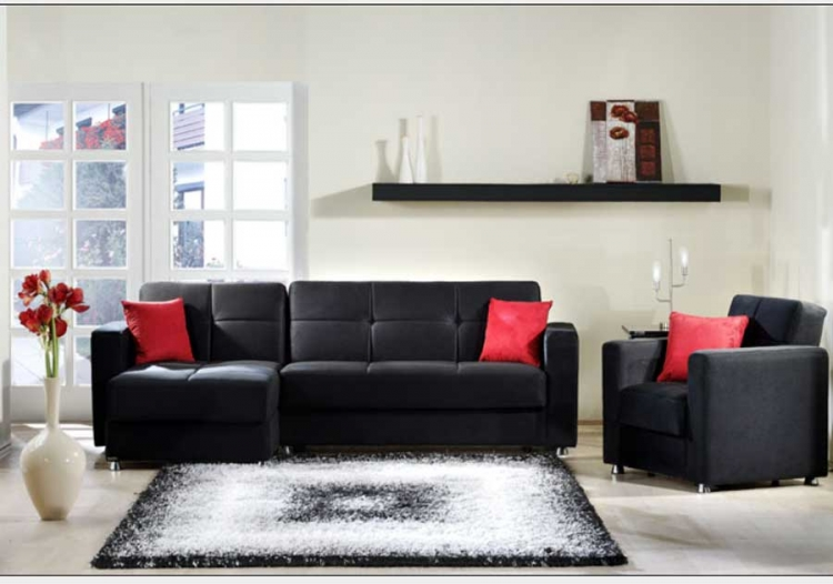 Elegant Sectional Collection - Rainbow Black