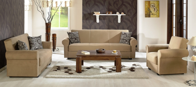 Elita Living Room Set - Rainbow Dark Beige - Istikbal - Sunset