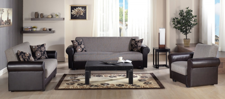 Enea Living Room Set - Redeyef Brown - Istikbal - Sunset
