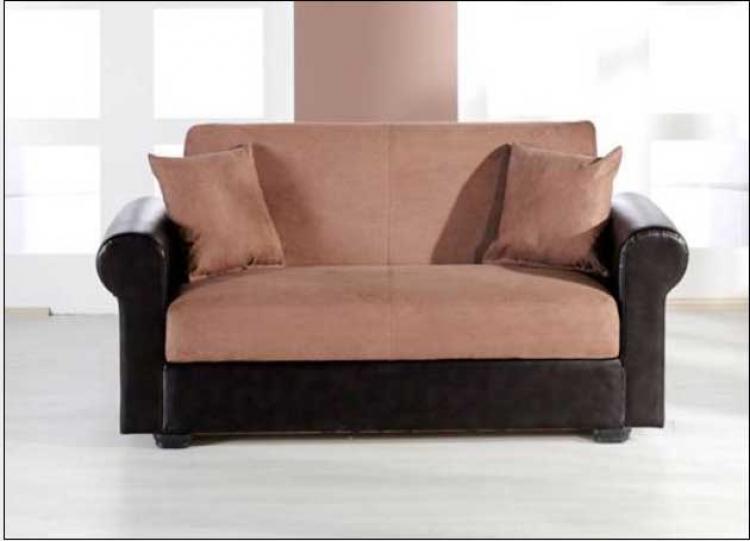 Enea Love Seat - Rainbow Truffle