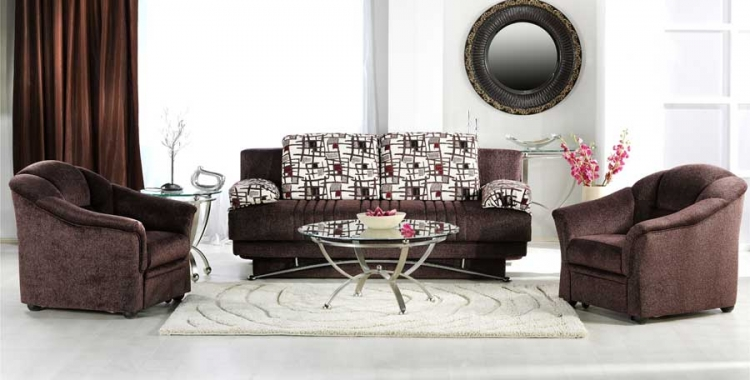 Fantasy Sofa Collection - Aristo Burgundy - Istikbal - Sunset