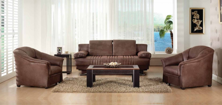 Fantasy Living Room Set - Silverado Chocolate - Istikbal - Sunset