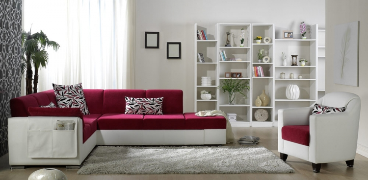 Ideal Sectional Set - Phaselis Pink - Istikbal - Sunset
