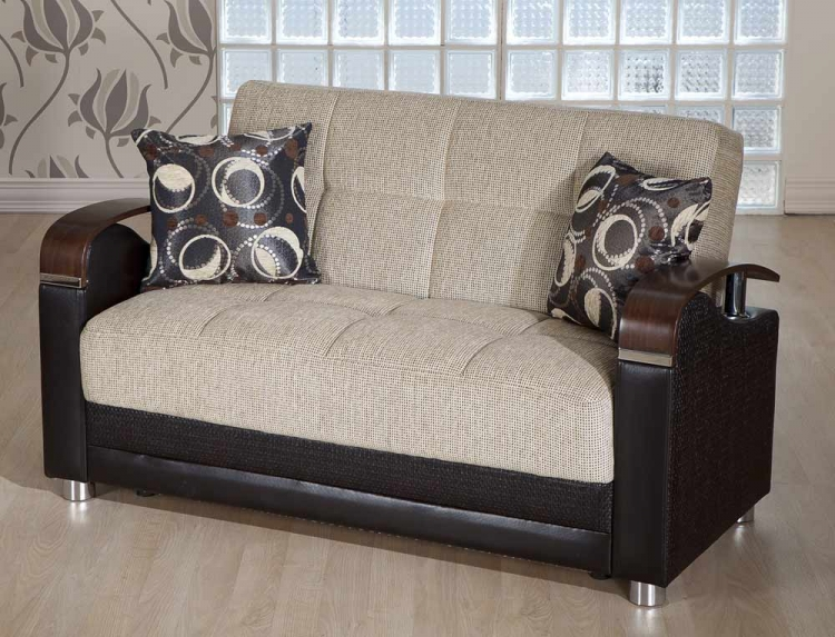 Luna Sleeper Love Seat - Petek Milky Brown - Istikbal - Sunset