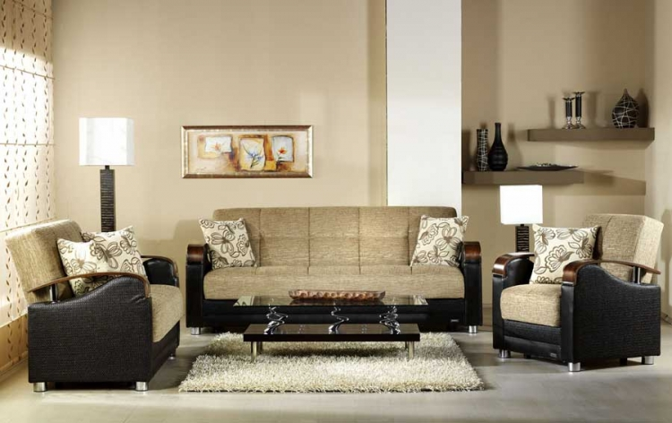 Luna Sofa Collection - Fulya Brown - Istikbal - Sunset