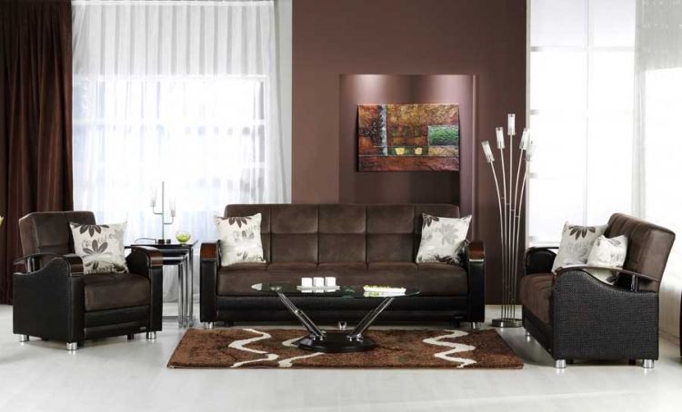 Luna Sofa Collection - Chocolate - Istikbal - Sunset
