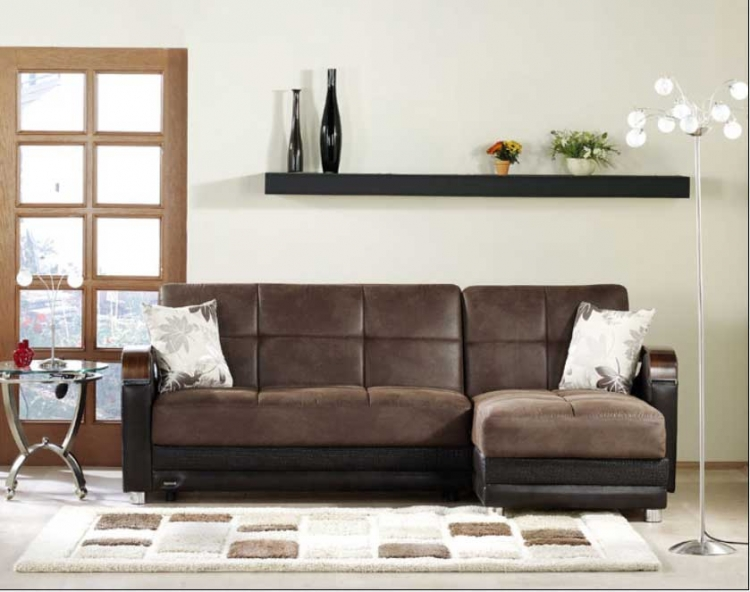 Luna Sectional - Chocolate - Istikbal - Sunset