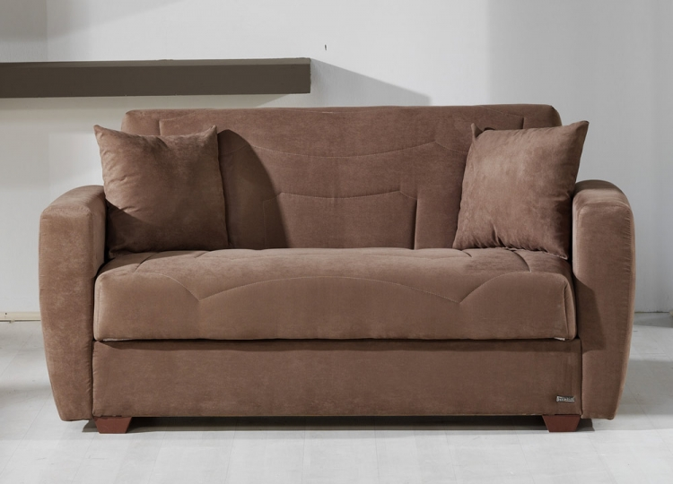Miami Sleeper Love Seat - Obsession Truffle - Istikbal - Sunset