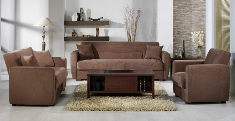 Miami Living Room Set - Obsession Truffle - Istikbal - Sunset