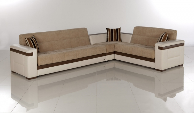 Moon Sectional - Platin Mustard