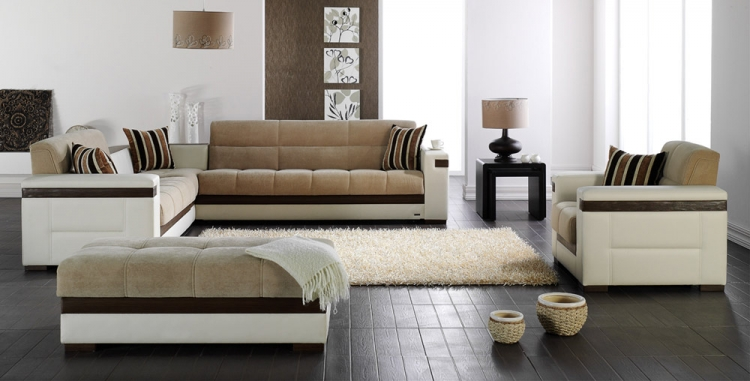 Moon Sectional Set - Platin Mustard