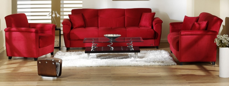 Aspen Sofa Collection - Rainbow Red - Istikbal - Sunset