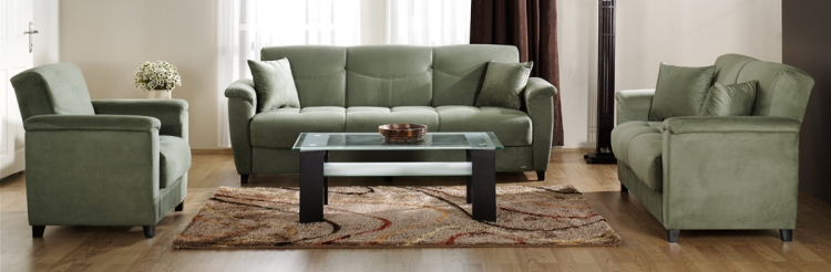 Aspen Sofa Collection - Rainbow Sage - Istikbal - Sunset