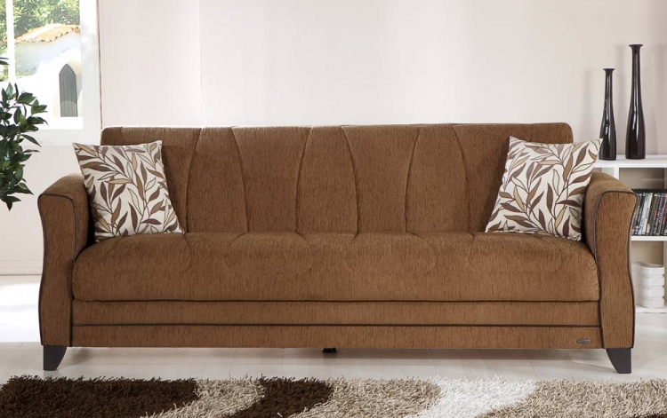 Polaris Sleeper Sofa - Porto Brown - Istikbal - Sunset