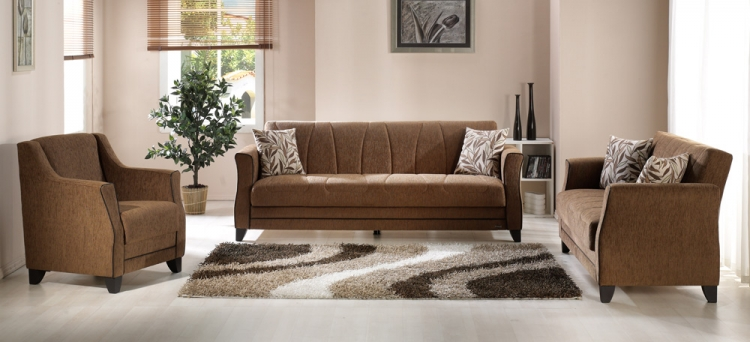 Polaris Living Room Set - Porto Brown - Istikbal - Sunset