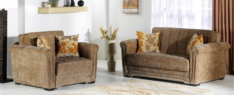 Victoria Sofa Collection - Rosalinda Brown