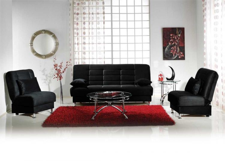 Vegas Sofa Collection - Rainbow Black