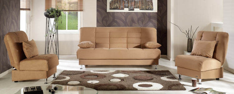 Vegas Living Room Set - Rainbow Brown - Istikbal - Sunset