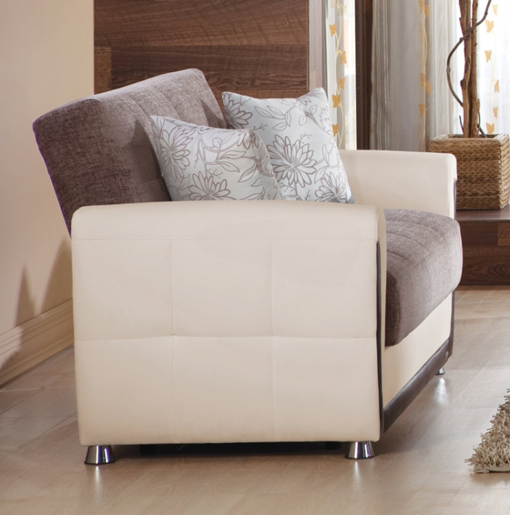 Vella Sleeper Love Seat - Jennefer Brown