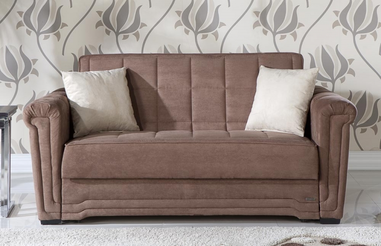 Victoria Sleeper Love Seat - Obsession Truffle